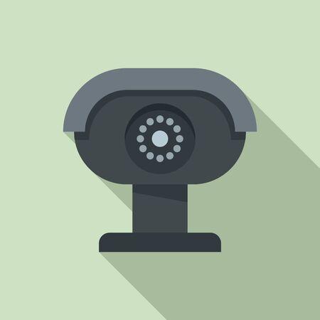 Security camera icon, flat style 일러스트
