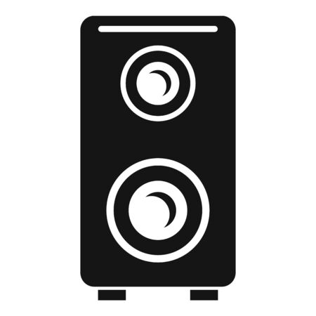 Music speaker icon, simple style