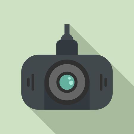 Led dvr camera icon. Flat illustration of led dvr camera vector icon for web design