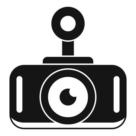 Modern car recorder icon, simple style Иллюстрация