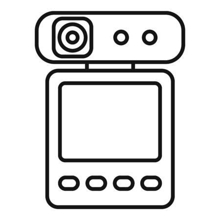 Modern car recorder icon, outline style Illustration