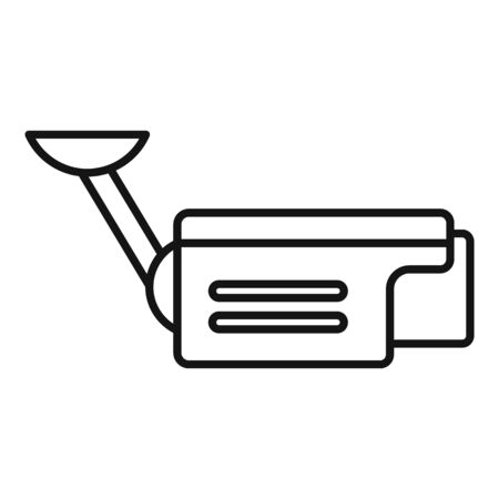 Outdoor security camera icon, outline style
