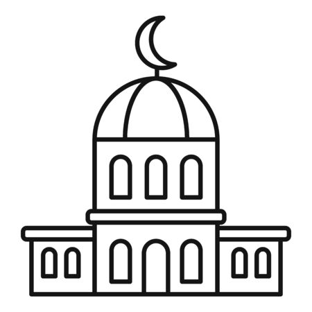 City mosque icon, outline style