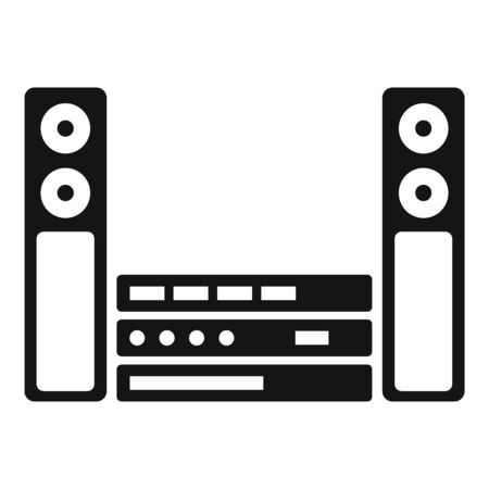 Music speaker system icon, simple style