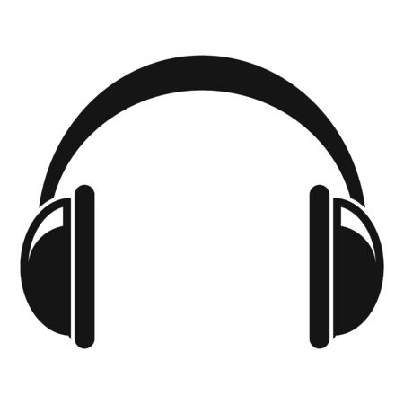 Icône de casque, style simple Vecteurs