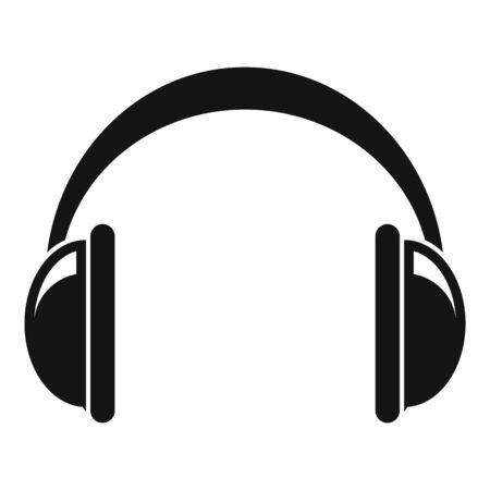 Icono de auriculares, estilo simple Ilustración de vector