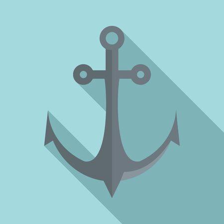 Ship anchor icon, flat style 向量圖像