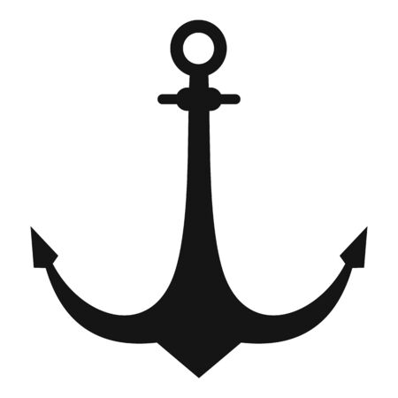 Anchor element icon, simple style
