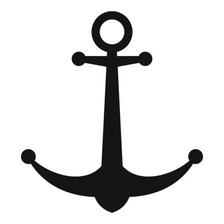 Military anchor icon, simple style
