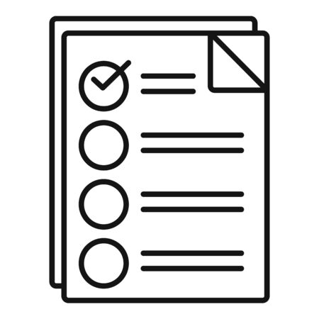 Checklist icon. Outline checklist vector icon for web design isolated on white background Ilustrace