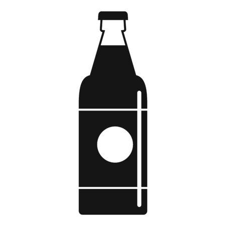 Fruit soda drink icon, simple style Ilustração