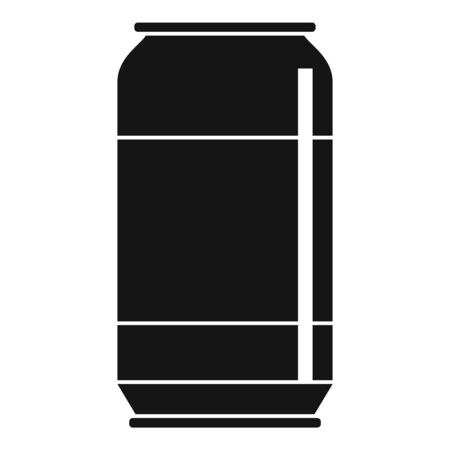 Cool soda tin icon, simple style