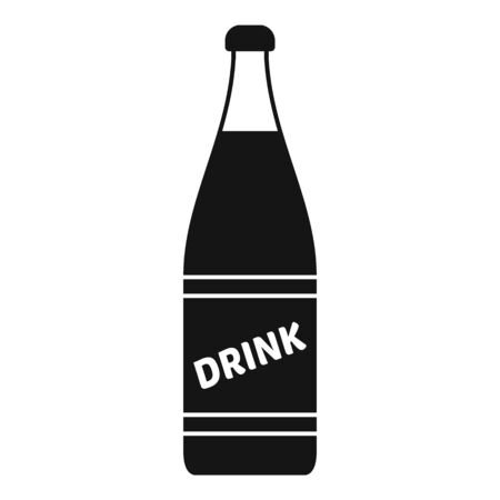 Diet soda bottle icon, simple style
