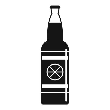 Lemon soda drink icon, simple style