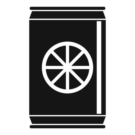 Healthy orange soda icon, simple style Ilustração