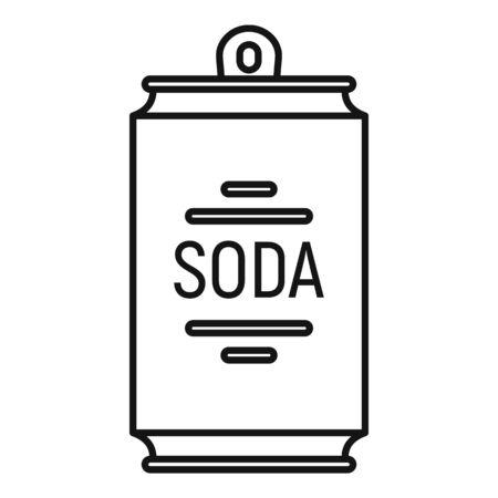 American soda icon, outline style Ilustração