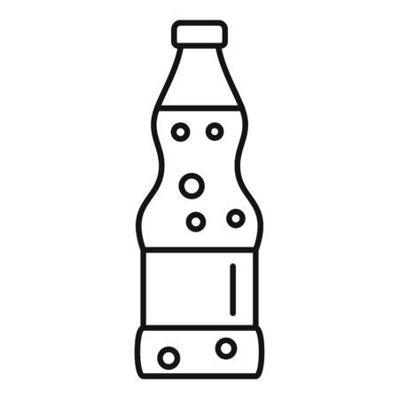 Soda icon, outline style Ilustração