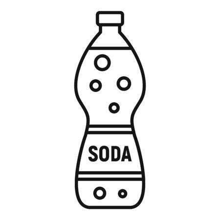 Soda drink icon, outline style Ilustração