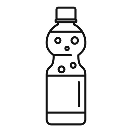 Orange soda icon, outline style