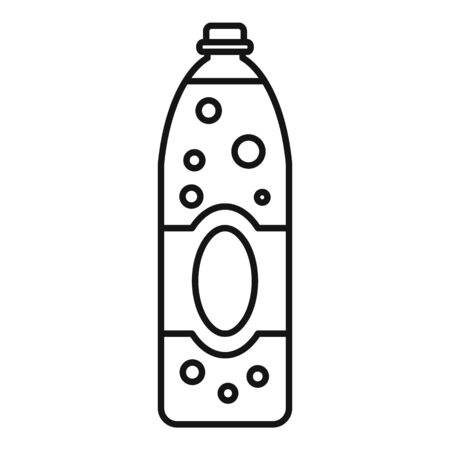 Orange juice soda icon, outline style