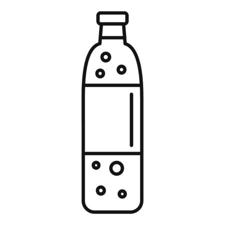 Soda plastic bottle icon, outline style