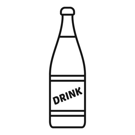 Diet soda bottle icon, outline style Archivio Fotografico - 134012652