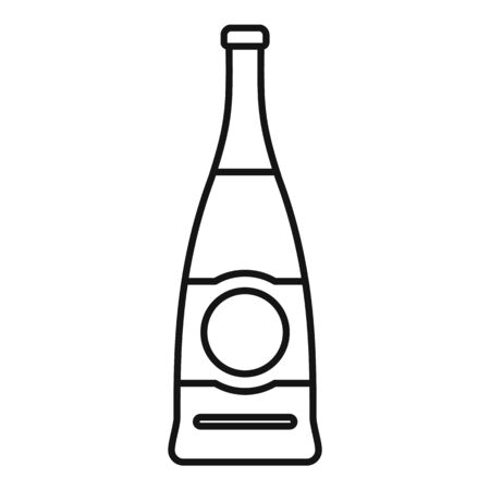 Supermarket soda bottle icon, outline style Illustration