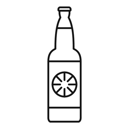 Lemon soda drink icon, outline style Ilustração