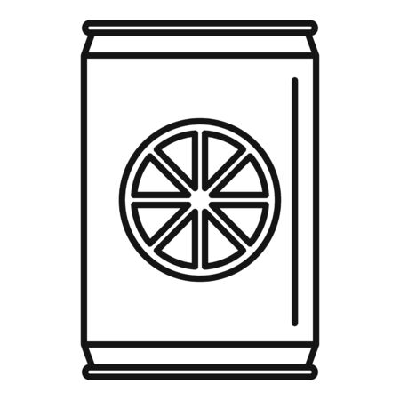 Healthy orange soda icon, outline style