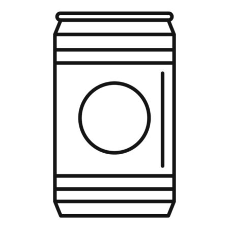 Natural soda tin can icon, outline style