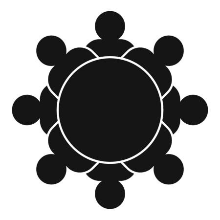 Top view audience icon, simple style