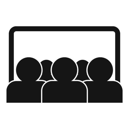 Webinar audience icon, simple style