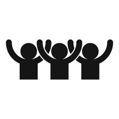 Icono de audiencia feliz, estilo simple Ilustración de vector