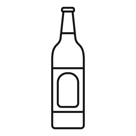 Lime soda drink icon, outline style