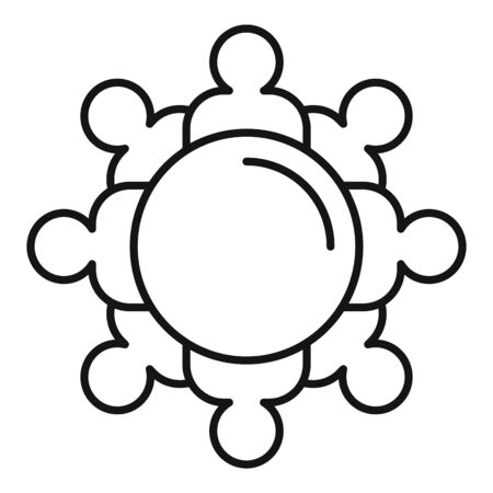 Top view audience icon, outline style