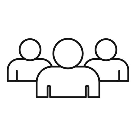 Media audience icon, outline style Ilustrace