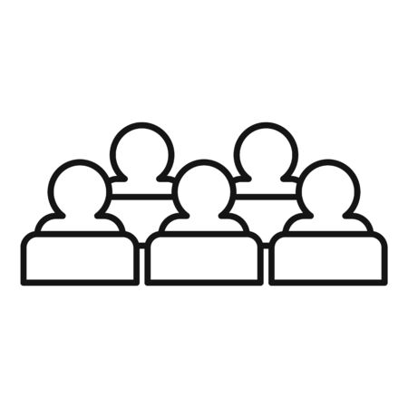 Target audience icon, outline style Ilustrace