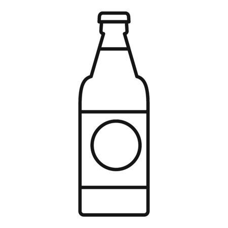 Fruit soda drink icon, outline style