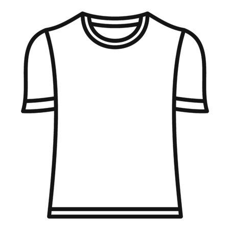 Brazil soccer shirt icon, outline style
