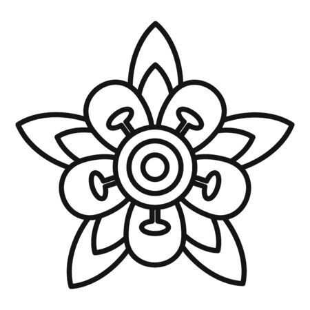 Brazil flower icon, outline style