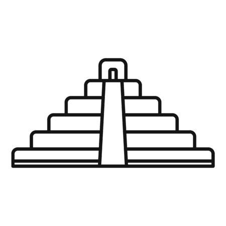 Brazil pyramid icon, outline style Archivio Fotografico - 134489849