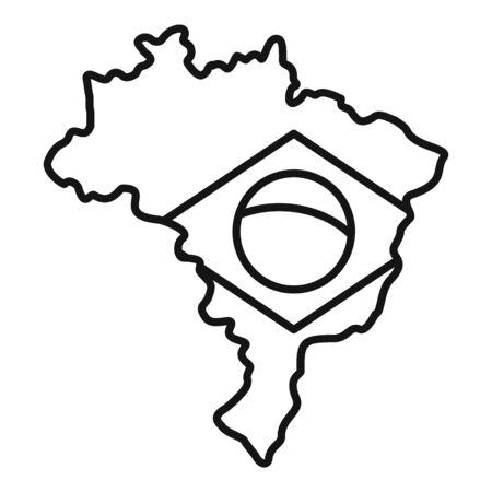 Brazil land icon, outline style