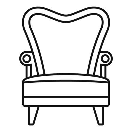 Luxury armchair icon, outline style Çizim