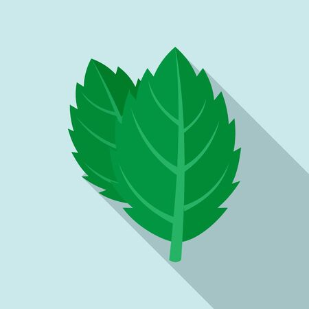 Mint icon, flat style