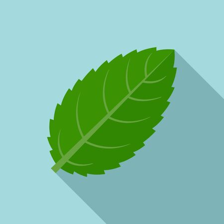 Peppermint icon, flat style