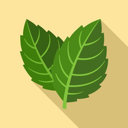 Natural mint leaf icon, flat style Illusztráció