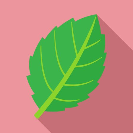 Mint leaf plant icon, flat style
