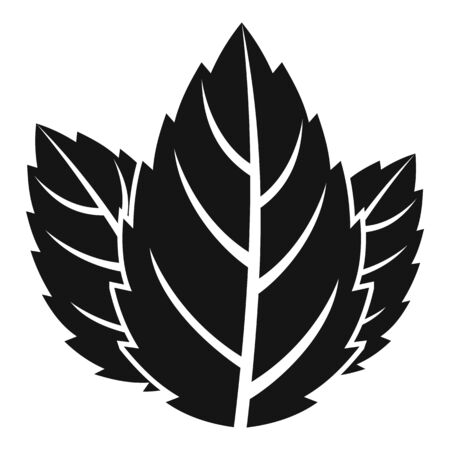 Mint leaf icon, simple style