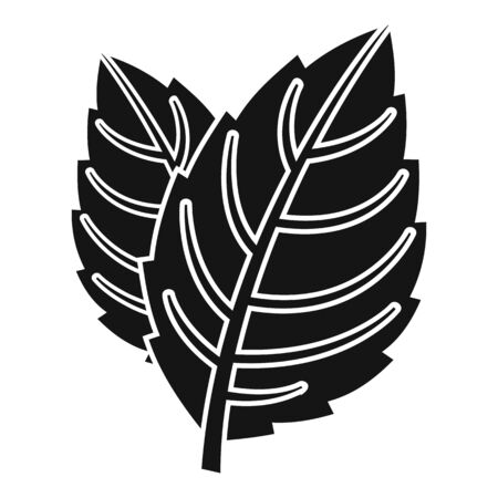 Natural mint leaf icon, simple style