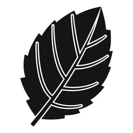 Mint leaf plant icon, simple style